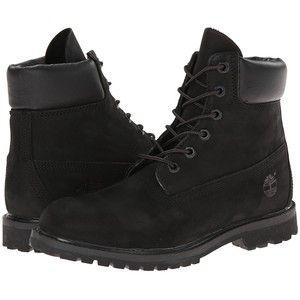 Timberland 6 Premium Boot (Black Nubuck) Women's Lace-up Boots