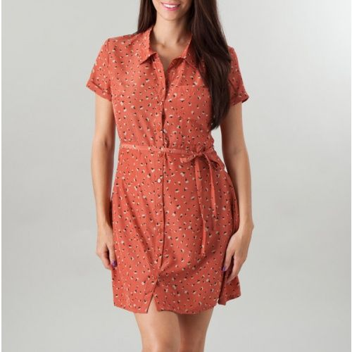 Short-Sleeve Button Front Shirt Dress  from Totsy