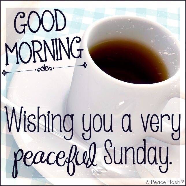 Good Morning Wishing You A Peaceful Sunday With Images Good