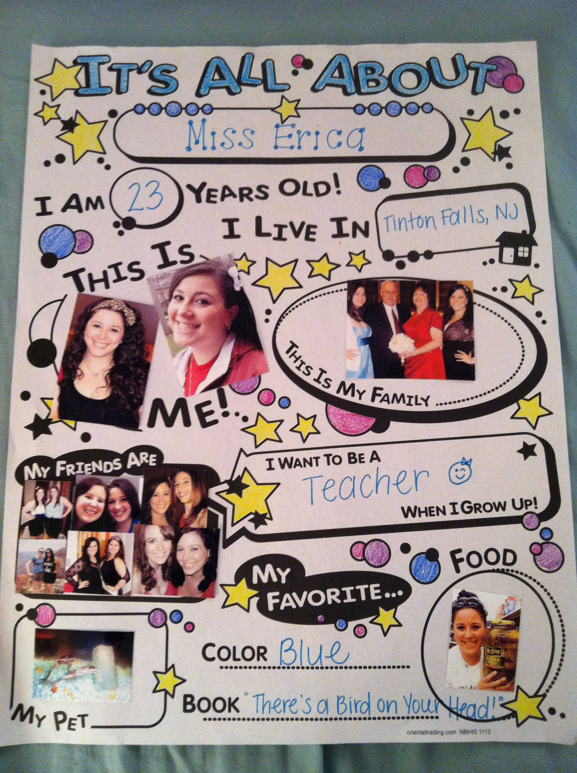 Preschool Star Of The Week Demo All About Me Poster