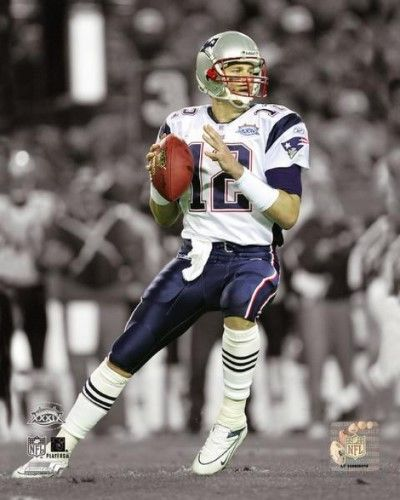 Tom Brady Super Bowl Xxxix Spotlight Action Photo Print (20 x 24)