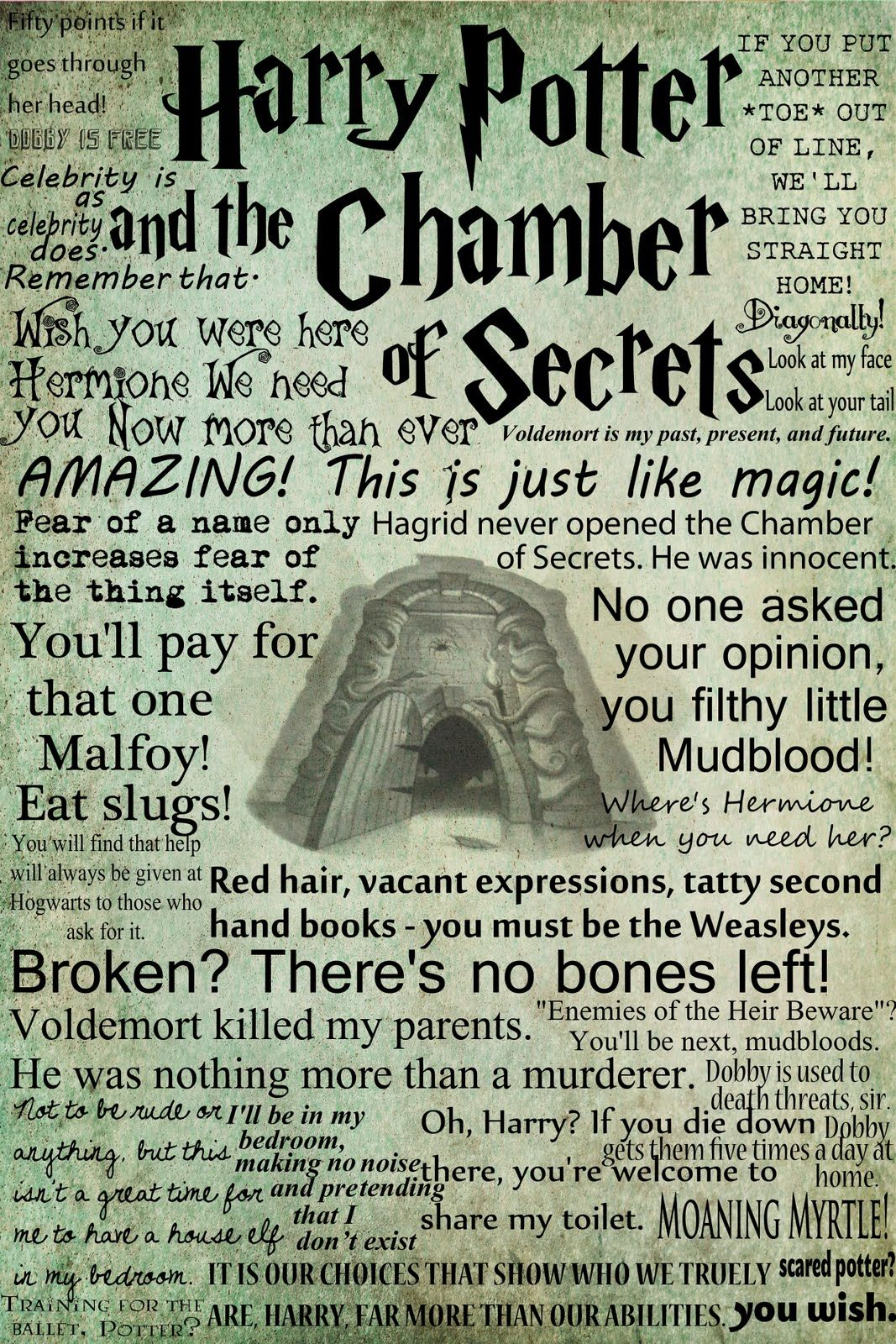 Harry Potter Book Quotes Harry Potter And The Chamber_Of_Secrets  Harry Potter Posters