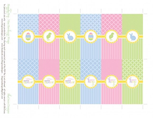 Free easter party printables from blugrass designs candy for Free mini candy bar wrapper template