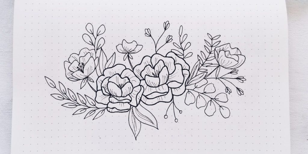 How To Draw Flower Doodles In Your Bullet Journal Florals With Filler Elements Masha Plans Flower Drawing Doodle Art Flowers Flower Doodles