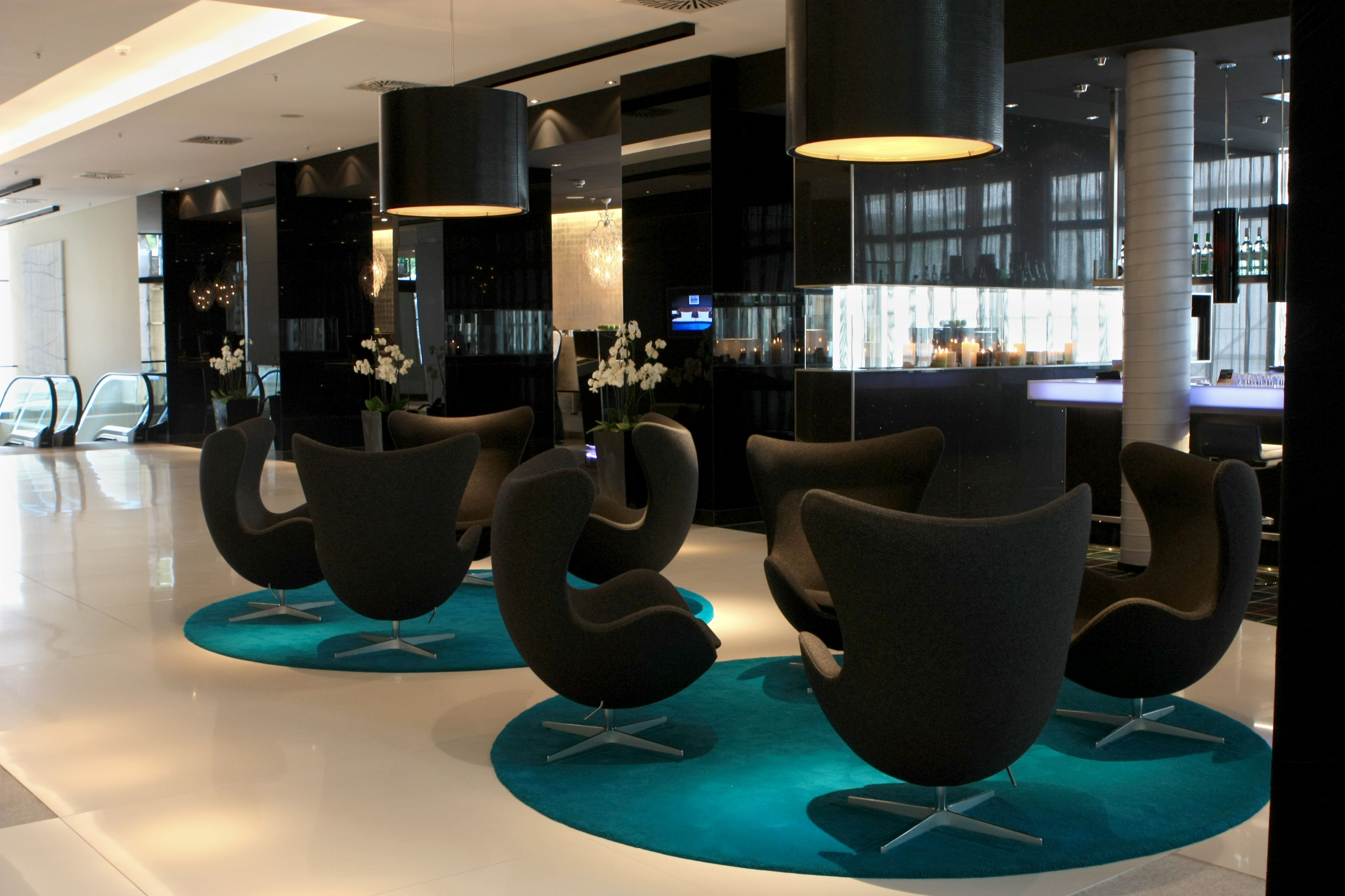 Furniture Outstanding Office Lobby Design With Wooden Floor And