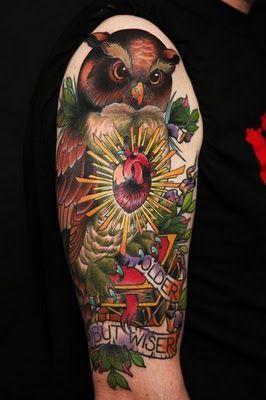 Tattoo Burung Hantu Tattoos For Guys Arm Tattoos For Guys