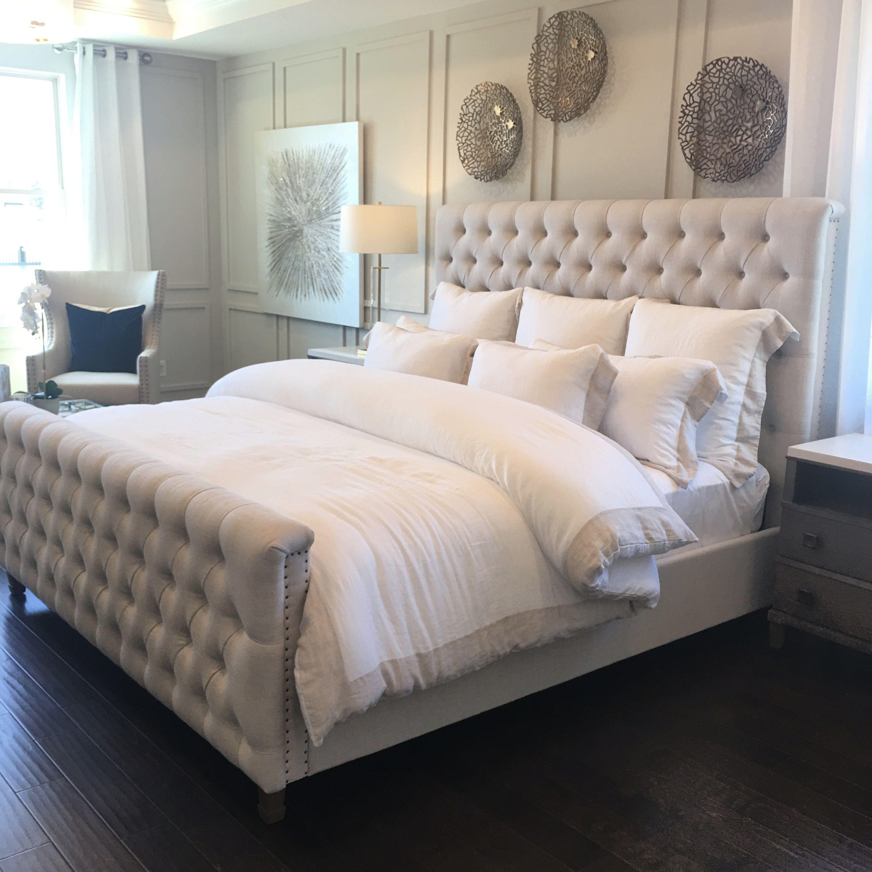 Coastal glam bedroom modern farmhouse glam bedroom (With