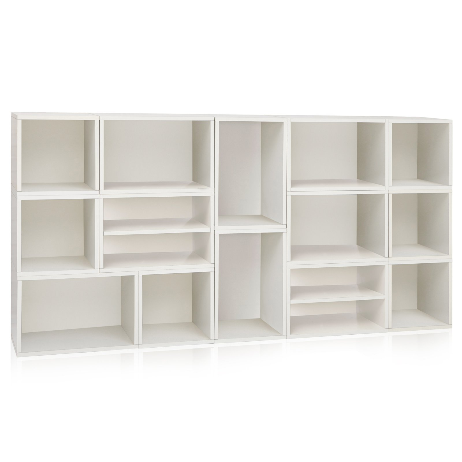 Way basics eco rome stackable modular bookcase and storage shelf