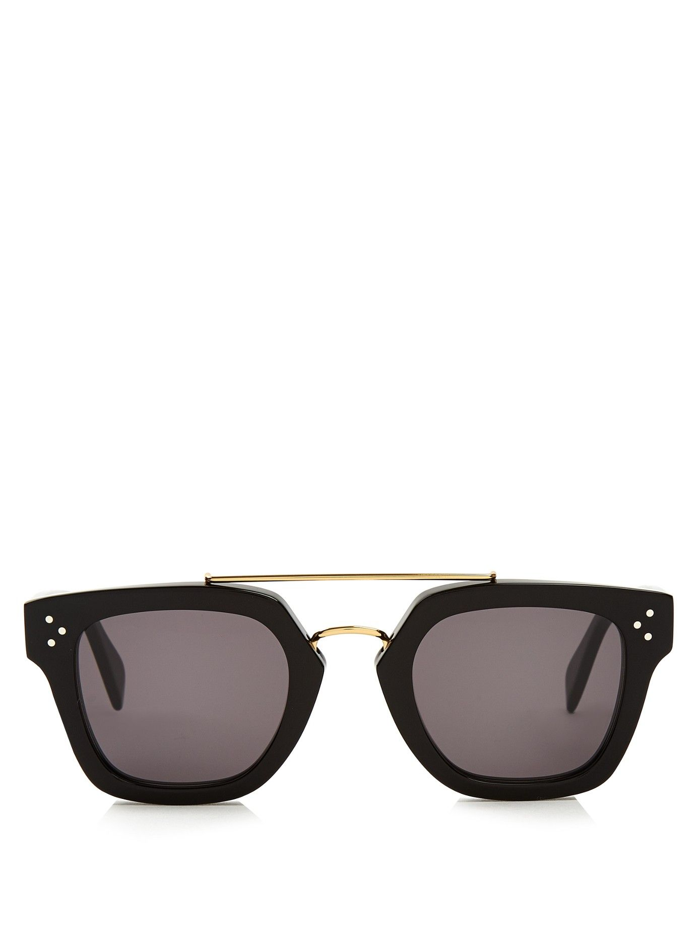 Square aviator-frame sunglasses Celine