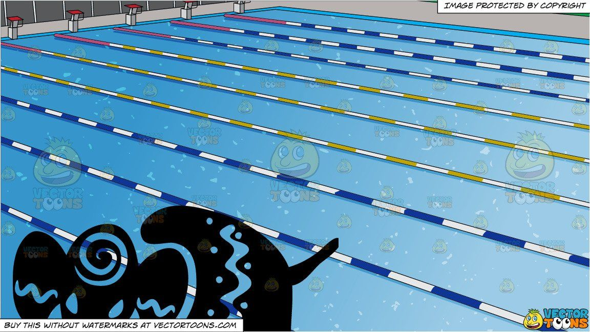 Clipart Cartoon A Primitive Elephant Art And Outdoor Competition Swimming Pool Background