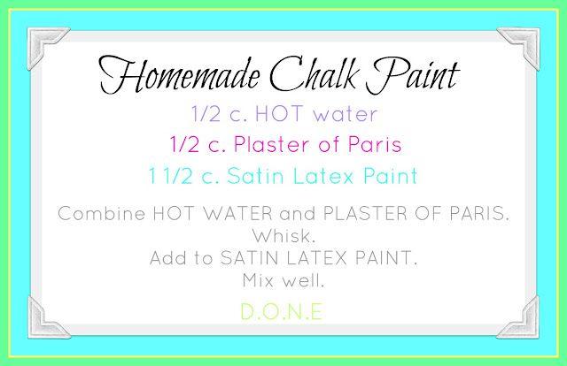 Our Prairie Home: Homemade Chalk Paint Recipe