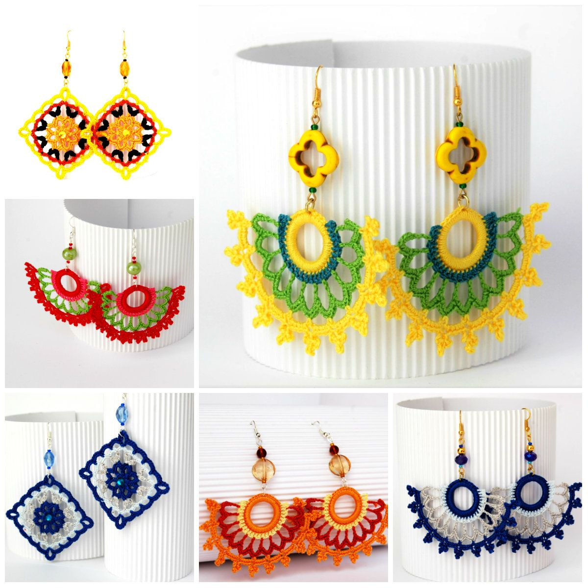 Crochet earrings - Pendientes de ganchillo - Lindapaula | Crochet ...