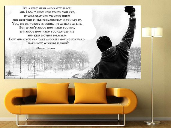Rocky Wall Art Canvas Wall Print Boxing Print Art Motivation Print Sport Wall Decor Large Wall Art Printable Canvas Set Rocky Balboa Poster #rockybalboaquotes