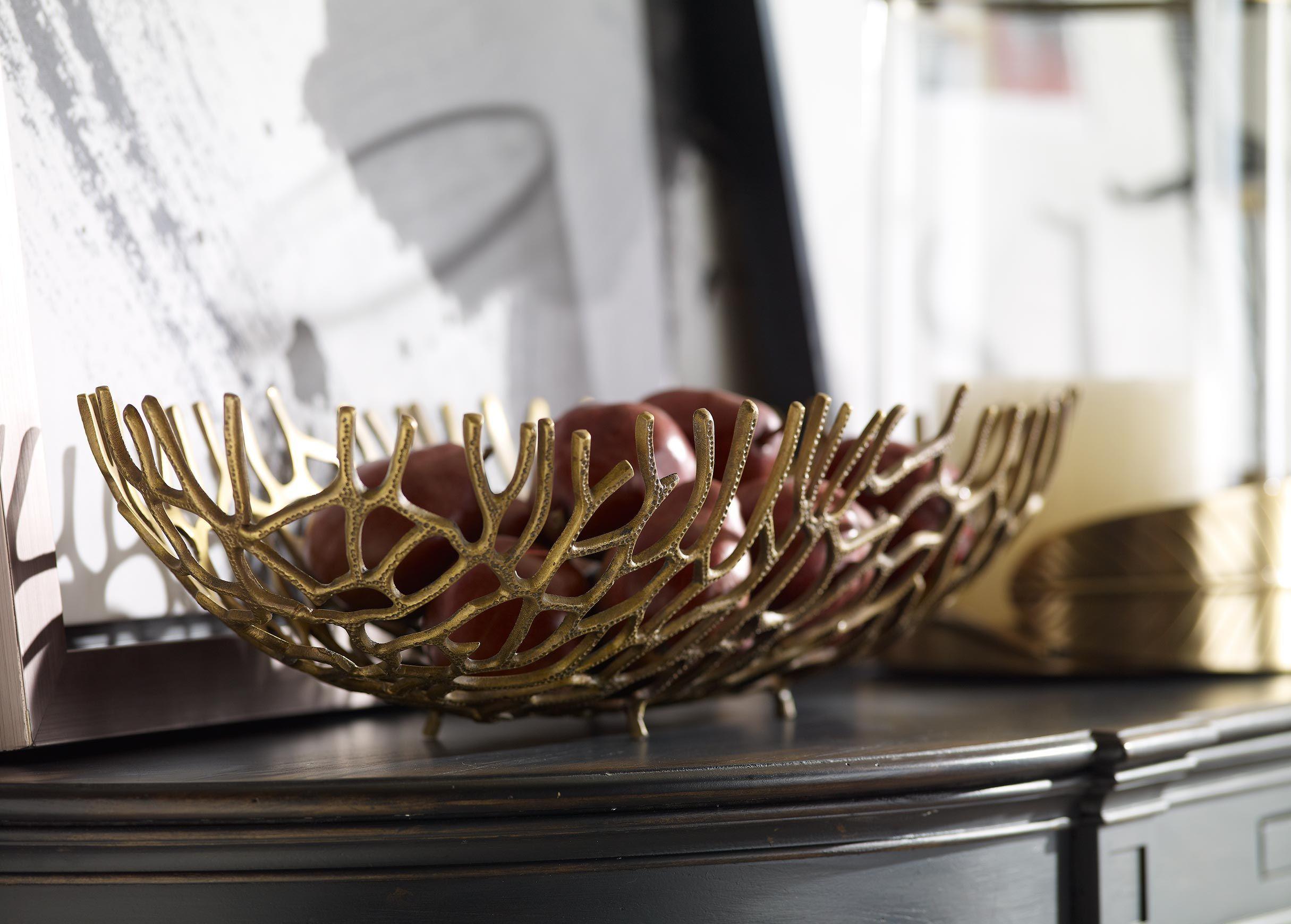 Oval Coral Bowl Decorative Bowls Decor Accent Decor