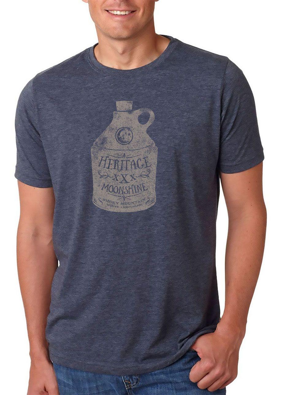 Heritage moonshine tshirt mens tshirts mens tee shirts