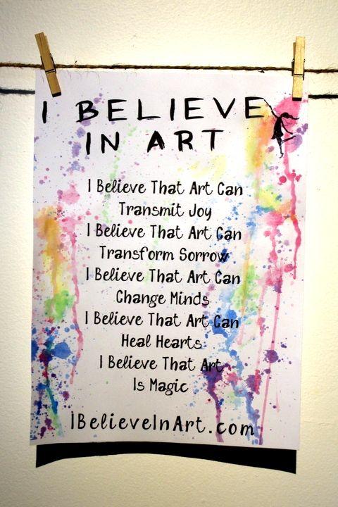 The I Believe In Art Manifesto