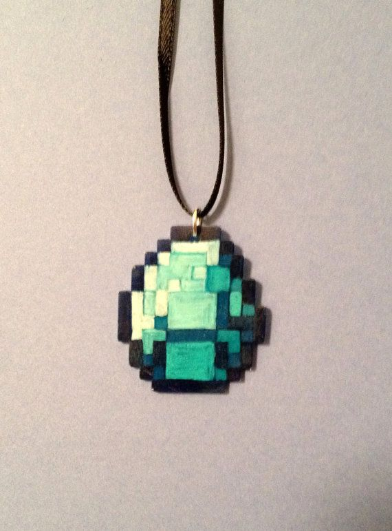 One of a kind hand drawn shrink plastic minecraft diamond pendant hand drawn minecraft diamond pendant i just listed in my etsy shop 2200 buy it aloadofball Choice Image
