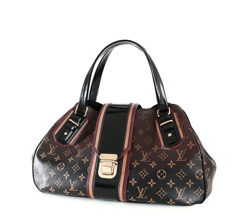 fab9fa4d0942 Louis Vuitton Griet Mirage Ombre Noir Rare Limited Edition Brown Satchel   3450