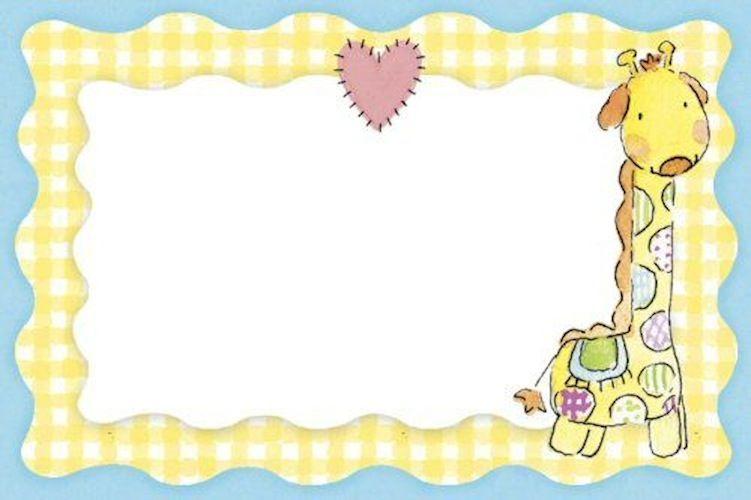 Jirafa Baby Shower Invitaciones Plantillas De Invitación