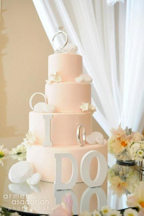 Beautiful Light Pink Wedding Cake