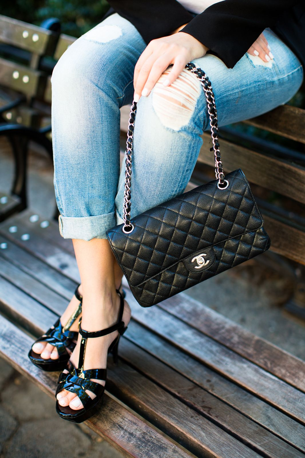 Chanel and jeans