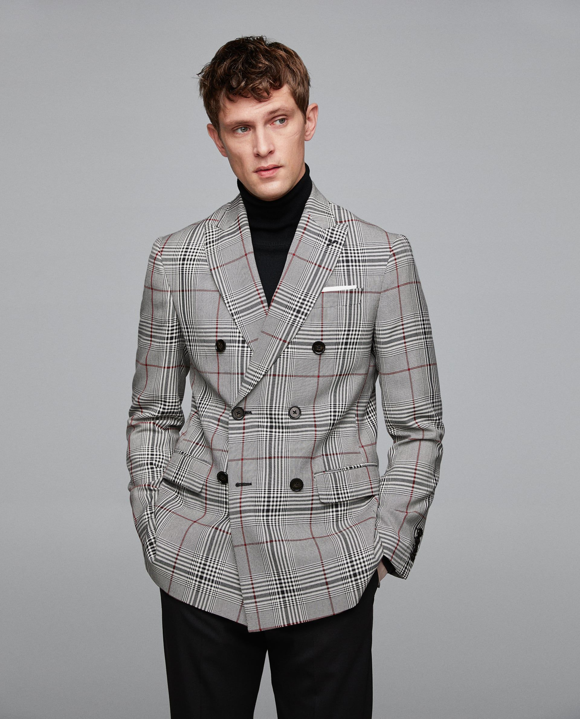 89bfd9f3 DOUBLE BREASTED CHECKED BLAZER | Blazers (Men) in 2019 | Checked ...
