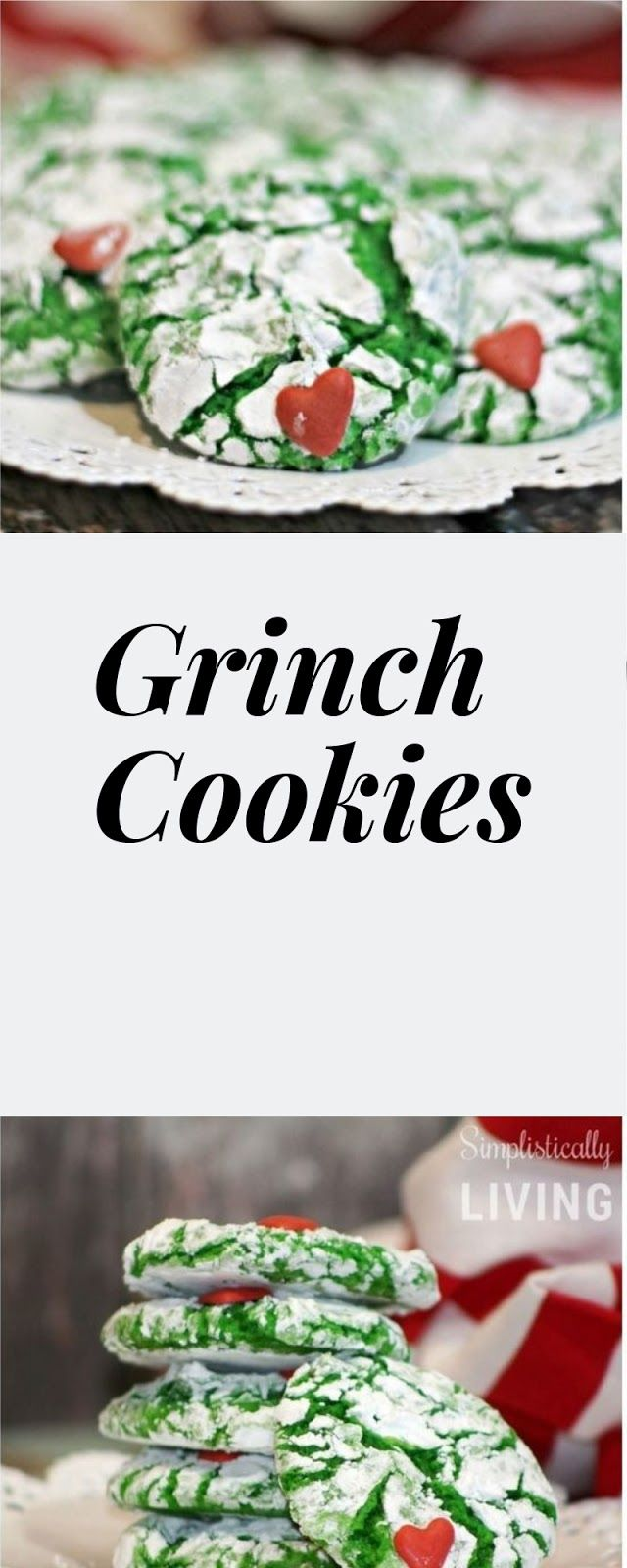 Wavy, Tender, Grinch Cookies #christmas#holidays#holidayrecipes | Recipes #grinchcookies