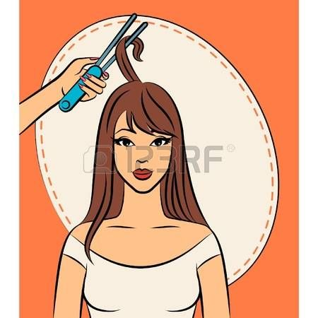 Beautiful Hairdresser With Tools For Beauty Salon Beauty Salon Cartoon Beauty
