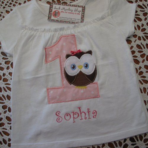 Personalised 1st Birthday Bib for girls Embroidered cupcake design,add any name