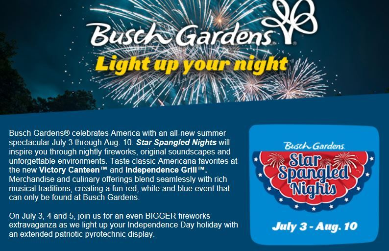 Spend the 4th of July Weekend at Busch Gardens