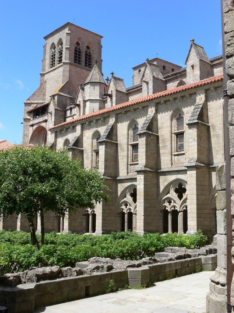 Abbatiale St Robert Xive De Style Gothique Languedocien La Chaise Dieu Haute Loire Auvergne Francia Monasterios