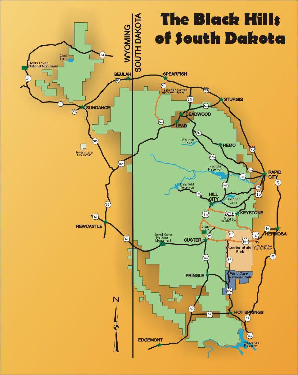 The Black Hills of South Dakota | MAPS | Pinterest