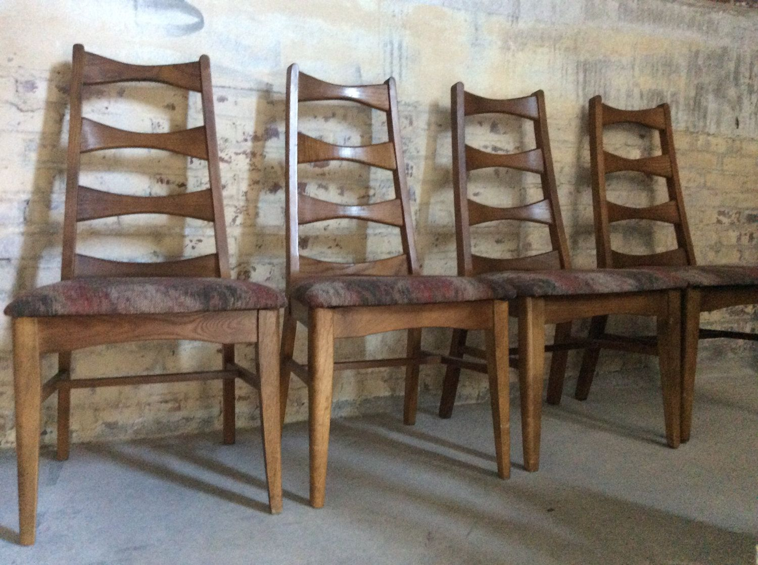 Four Mid Century Bow Tie Ladder Back Chairs Yugoslavian Chairs