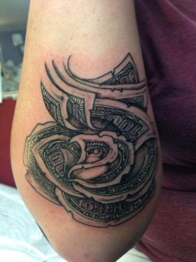 100 Dollar Bill Tattoos : dollar, tattoos, Dollar, Tattoos, Tattoo,, Tattoos,, Money, Tattoo
