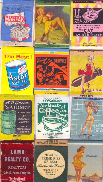 Antes de la invención de los encendedores en los 70's, los cerillos y su inteligente empaque estaban en todas las cocinas, restaurantes, bolsas y bolsillos de las personas junto con una gran cantidad de dibujos, pinturas y diseños que adornaban su portada. Este espacio era un medio de publicidad de alto impacto y las empresas lo explotaron con humor y creatividad.