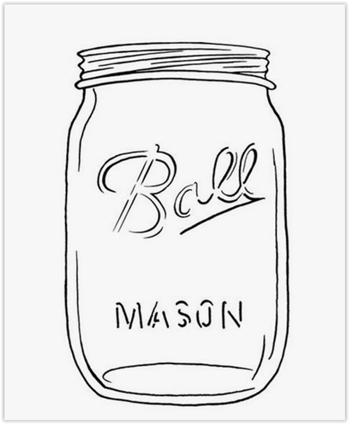 Ball Mason Jar Template Use This For String Art Decor Or Any