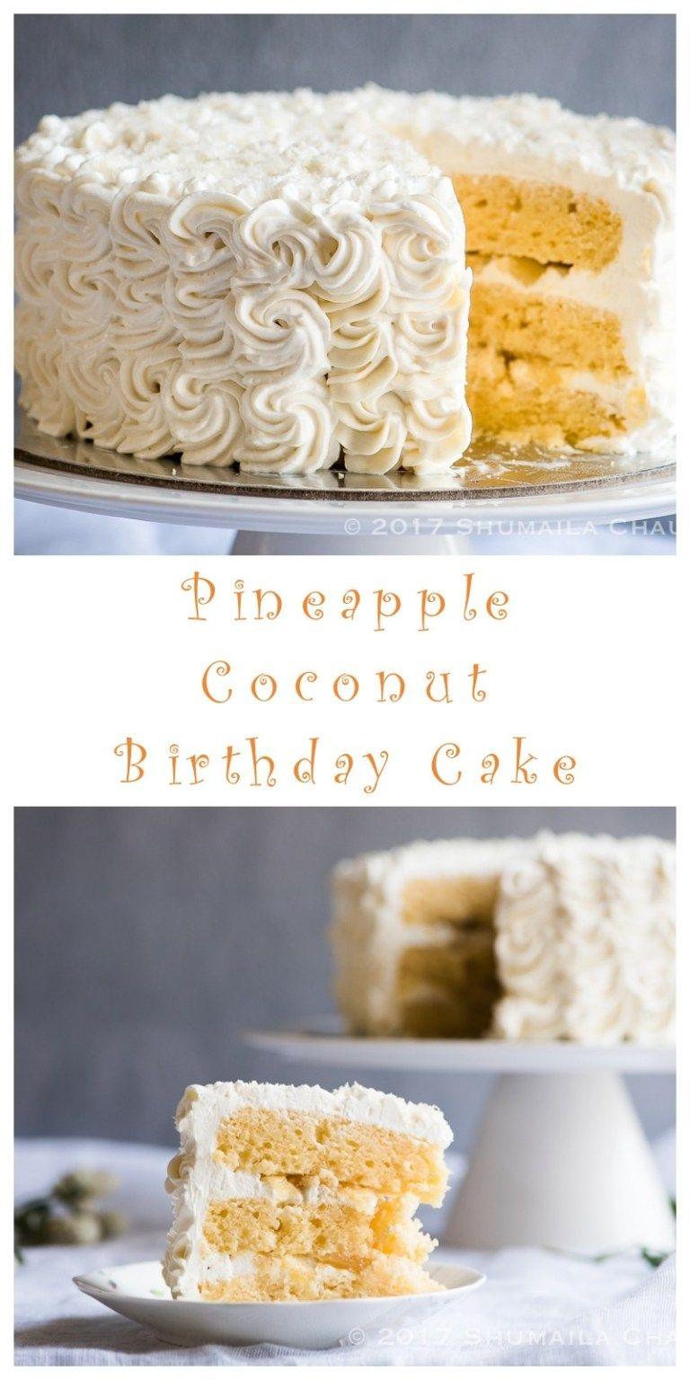 Tremendous Pineapple Coconut Birthday Cake Recipe Almond Coconut Cake Personalised Birthday Cards Paralily Jamesorg