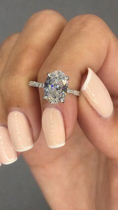 2.20 Carat Diamond Engagement Ring, 18k White Gold Diamond Ring, Oval Diamond Ring , Diamond Ring,Unique Ring,Big Diamond Ring,Free Shipping