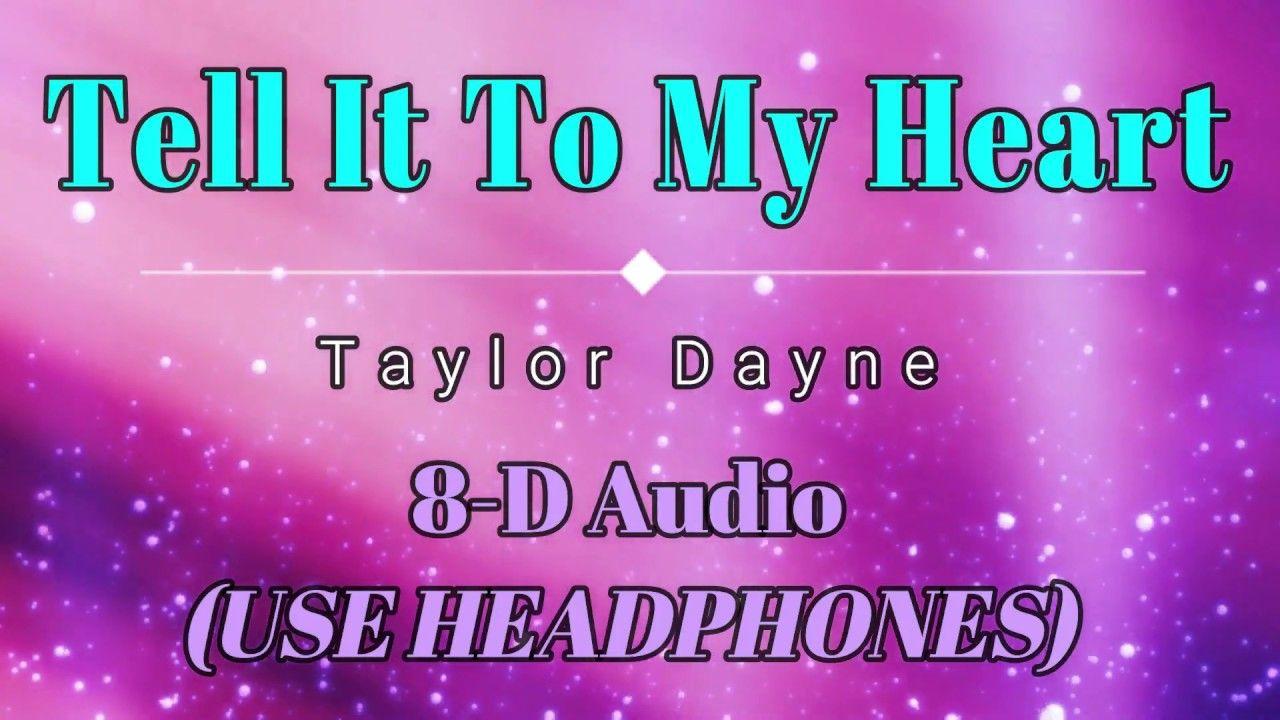 8D Audio 🎧 Taylor Dayne Tell It To My Heart (Lyric Video