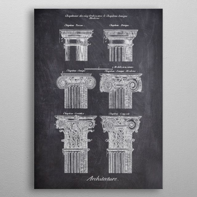 COLUMN_CHALK COLLECTION metal poster | Displate thumbnail