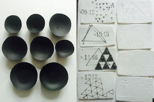 Project Triangle | Black and White ceramics by Dietlind Wolf