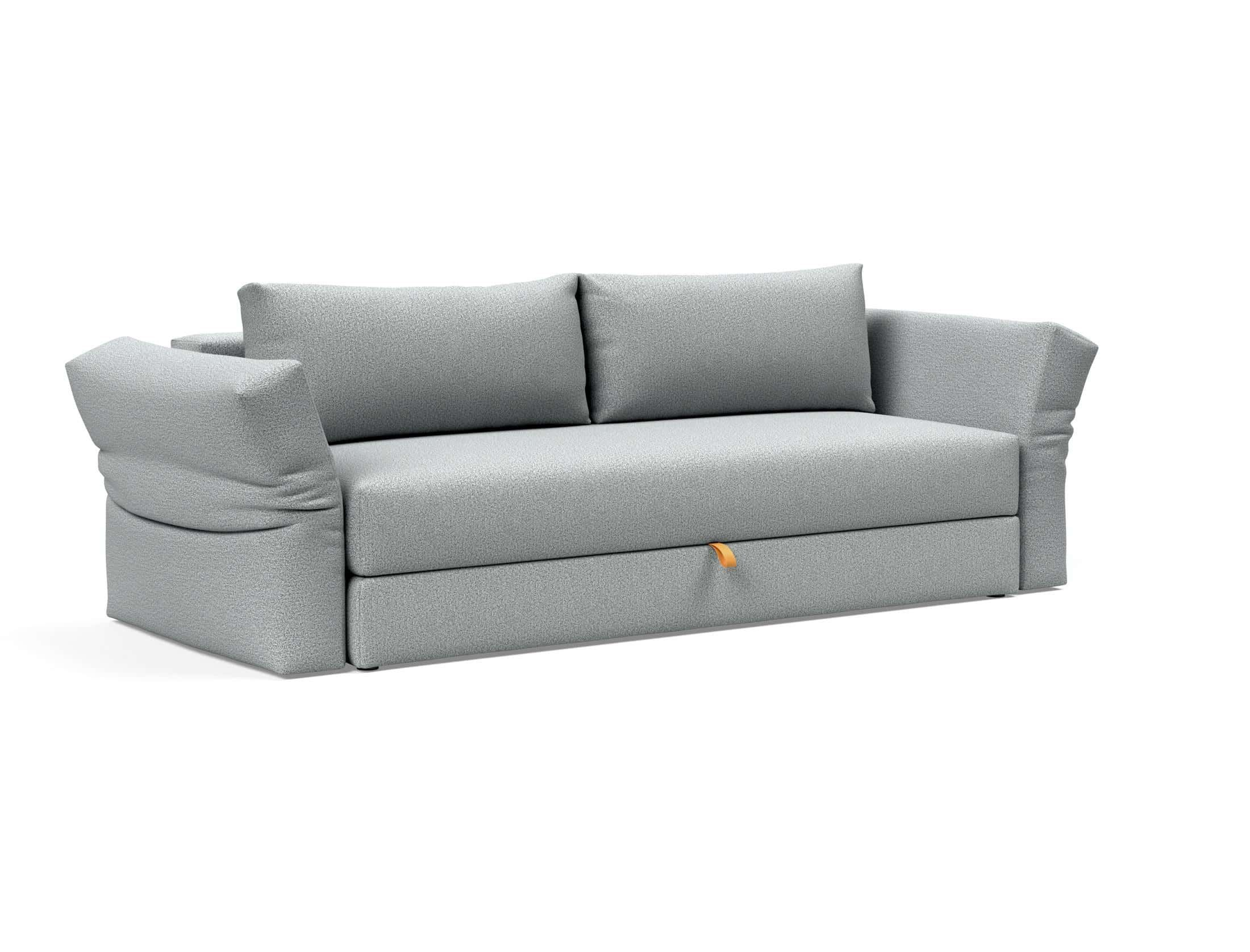 Otris Sofa Bed W Arms Full Size Melange Light Gray By Innovation Sofa Bed Design Comfortable Sofa Bed Sofa
