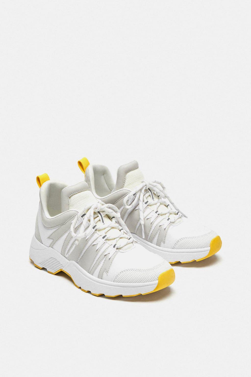 46792ed7e126 Image 1 of SNEAKER WITH HEEL DETAIL from Zara Vans Sneakers