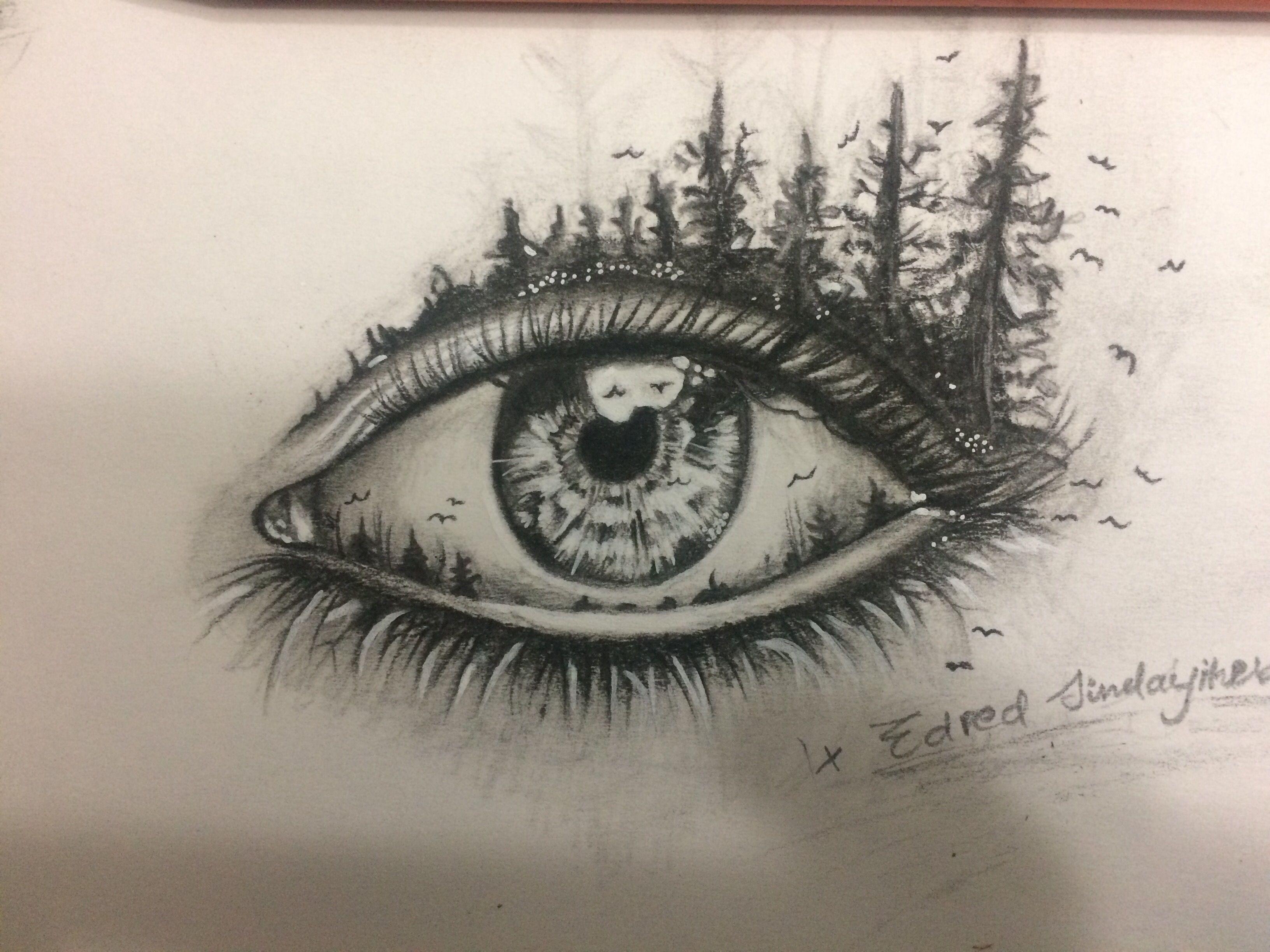 A Beautiful Creative Eye Drawing Not An Original From Me But