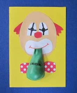 Einladungskarten Zum Kindergeburtstag Clown Zirkusgeburtstag