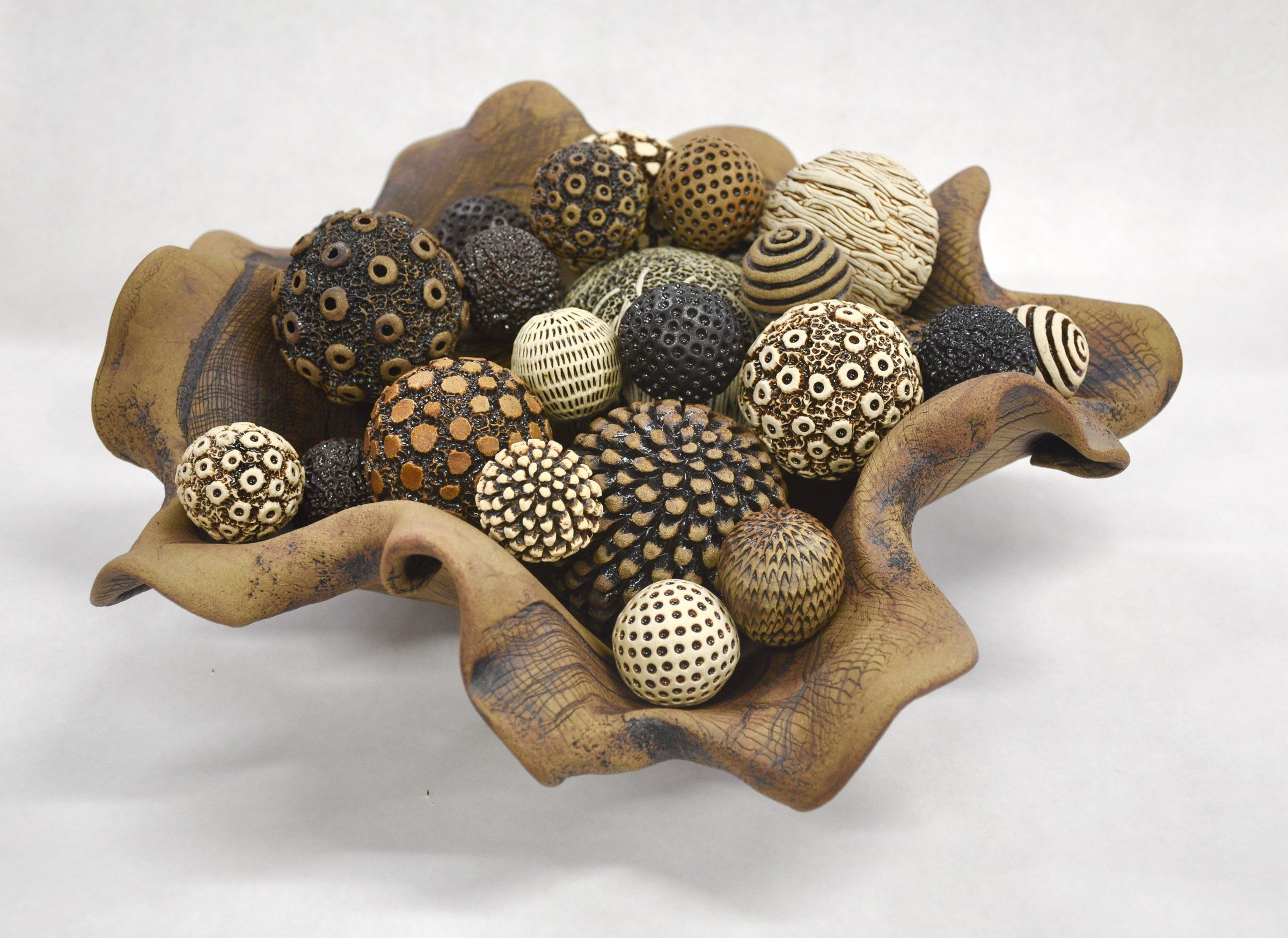 Textural Bowl of Abundance by Kelly Jean Ohl (Ceramic Sculpture)   Ceramic  sculpture, Clay texture, Ceramic artists