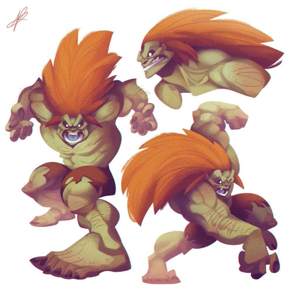Artstation Blanka Valerio Dreelrayk Buonfantino Street Fighter Art Street Fighter Comics Street Fighter Characters