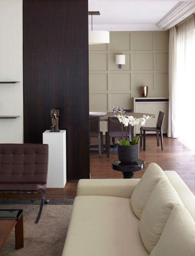 Bismut  Bismut Architectes Mur du fond bois + peinture Interior - peindre un mur en bois