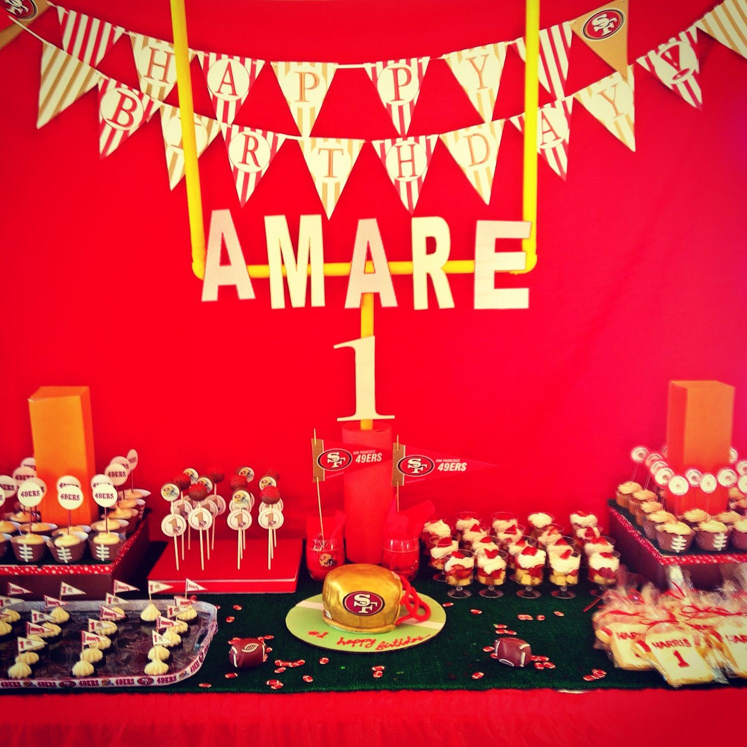 San Francisco 49ers Birthday Theme Dessert Table 30th Parties 4th Ideas