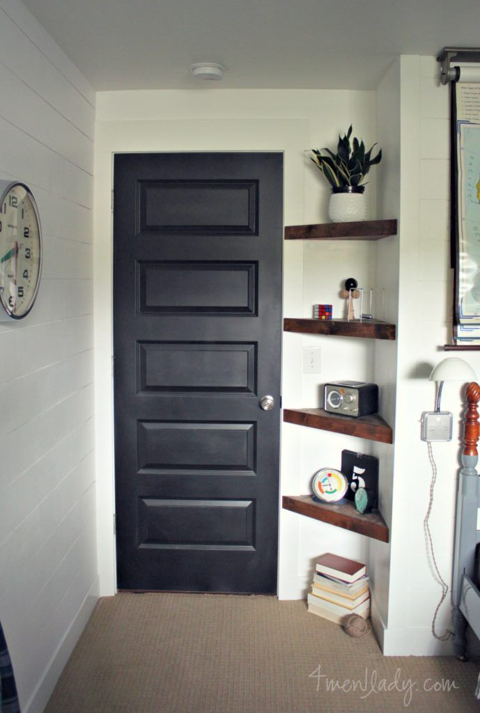 Install Floating Corner Shelves In A Nook By A Door. This Would Work If You  Donu0027t Have Room For An Entryway Table.